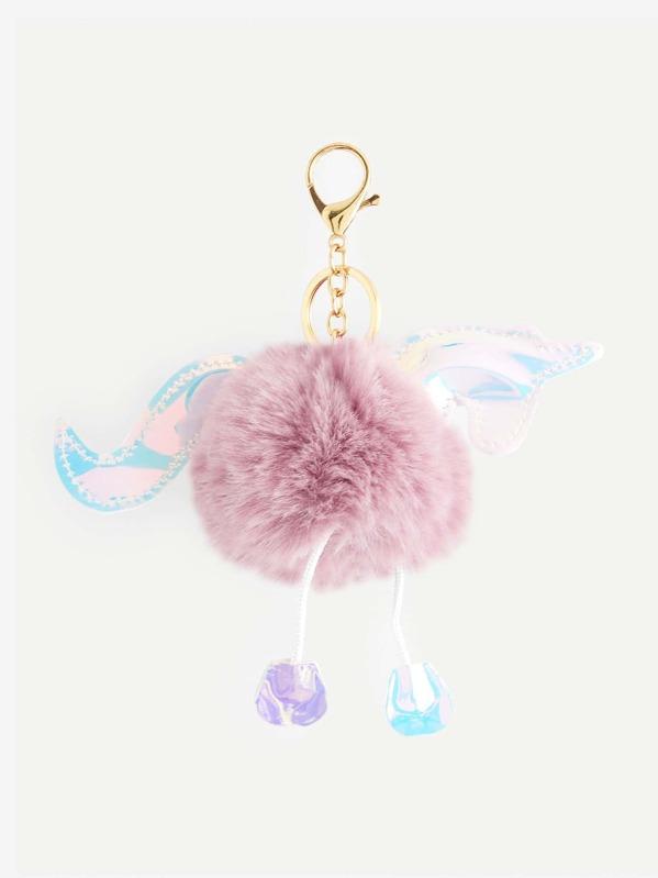 dab5717c7e Unicorn Design Pom Pom Keychain -SheIn(Sheinside)