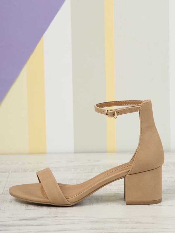928412f20662eb Faux Suede Ankle Strap Sandals -SheIn(Sheinside)