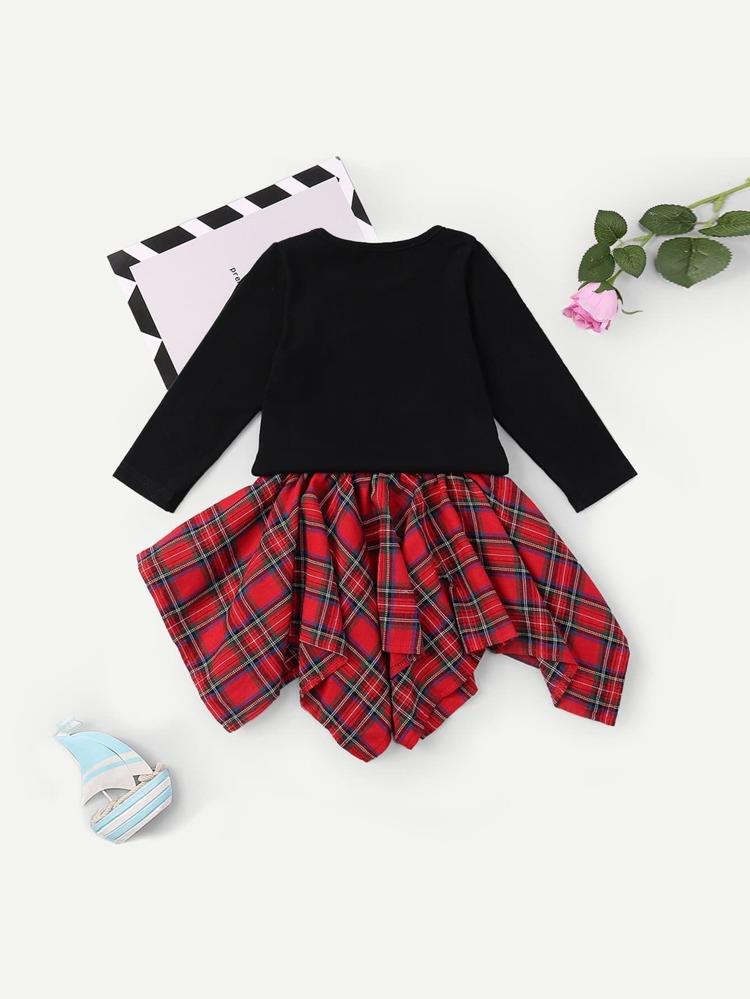 58e599cf95 Top de niñas con diseño bordado con falda bajo asimétrico