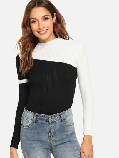 177df16f6d74da Color Block Sweater