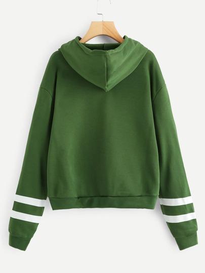 598fee369d Grande taille Sweat-shirt rayé à capuche
