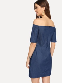 045f8ba581 Off Shoulder Denim Dress