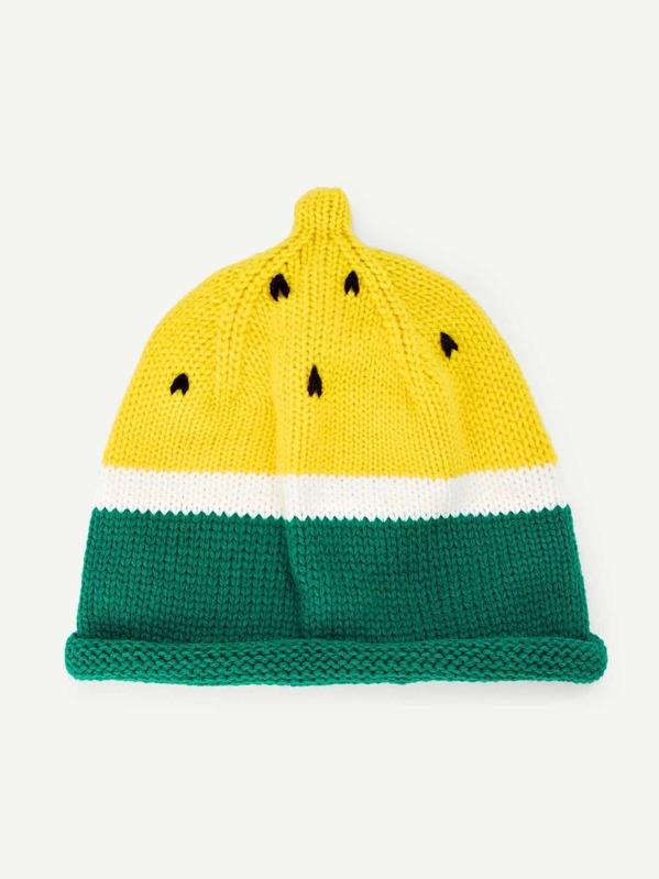 3471a7fa36c86 Kids Colorblock Beanie Hat -SheIn(Sheinside)