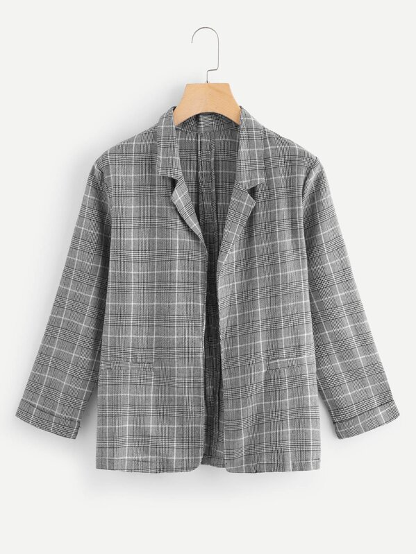 Wales Check Tweed Blazer, Grey