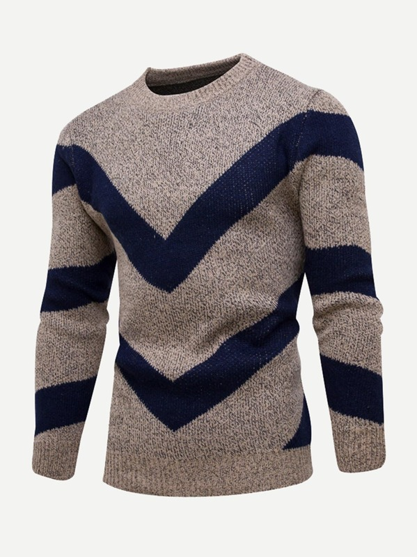 Men Geo Pattern Jumper by Sheinside