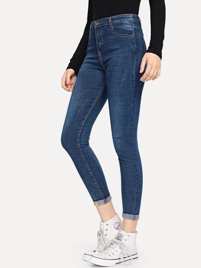 710cae901da Rolled Hem Pocket Detail Pants
