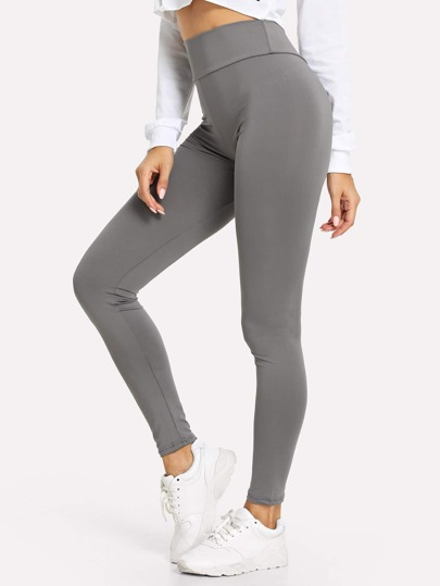 Wide Waistband Solid Leggings 2175a7609141