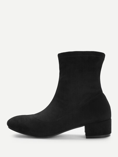 46de1d48340c Plain Block Heeled Boots