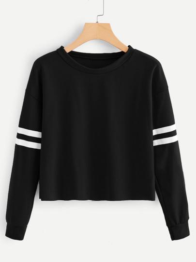 46fa1c232ec7 Contrast Striped Sweatshirt