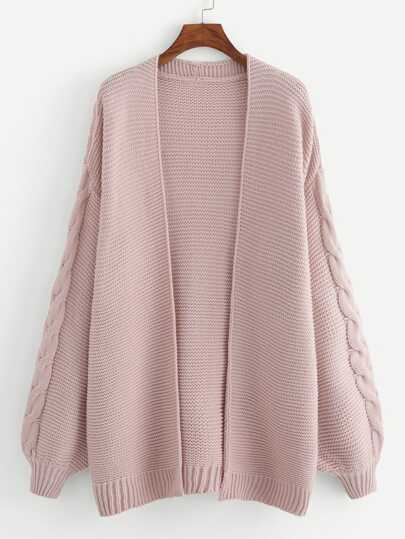 4fb3fb050f5 Plus Open Front Solid Cardigan