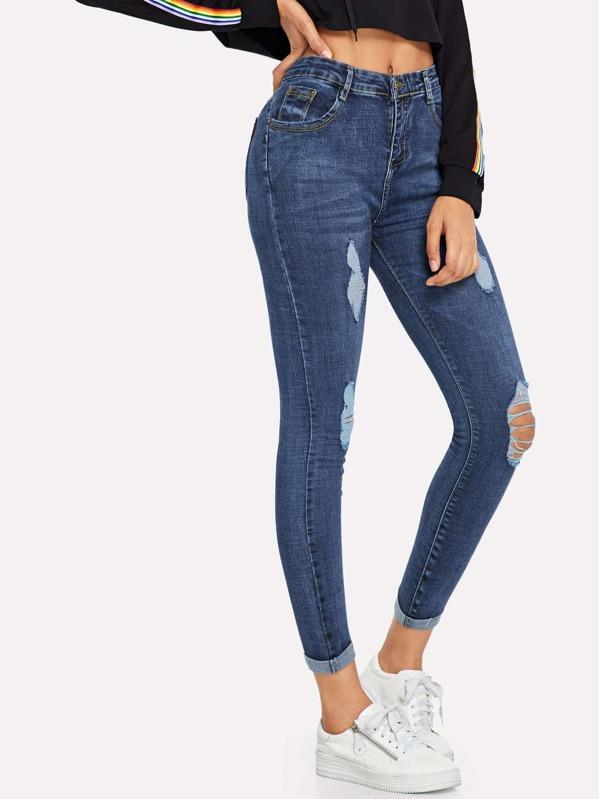 Witte Jeans gt; Qpoae8 Sportschoenen Gescheurde rxrOAwdYq8