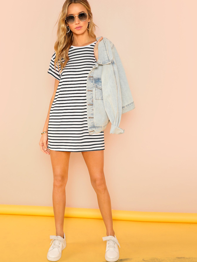 4008ba7d030d Striped Tee Dress