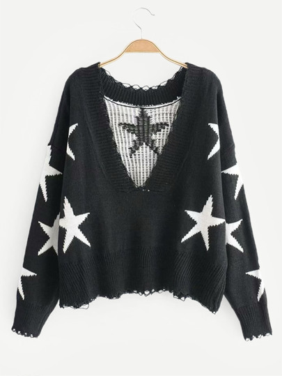 3750ecf87b Rib Trim Star Sweater