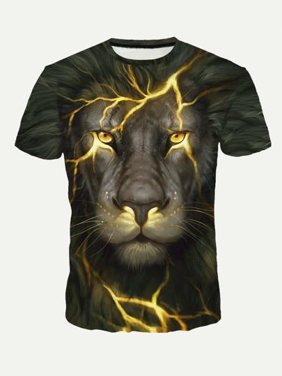 Camiseta de manga corta con dibujo impreso 897d49c56b4e8