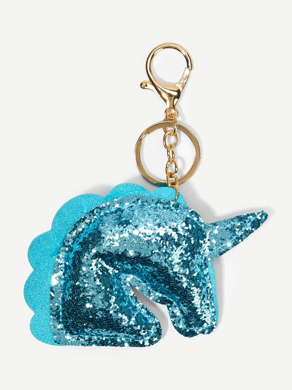 ef5a14f9ee Glitter Unicorn Shaped Keychain -SHEIN(SHEINSIDE)