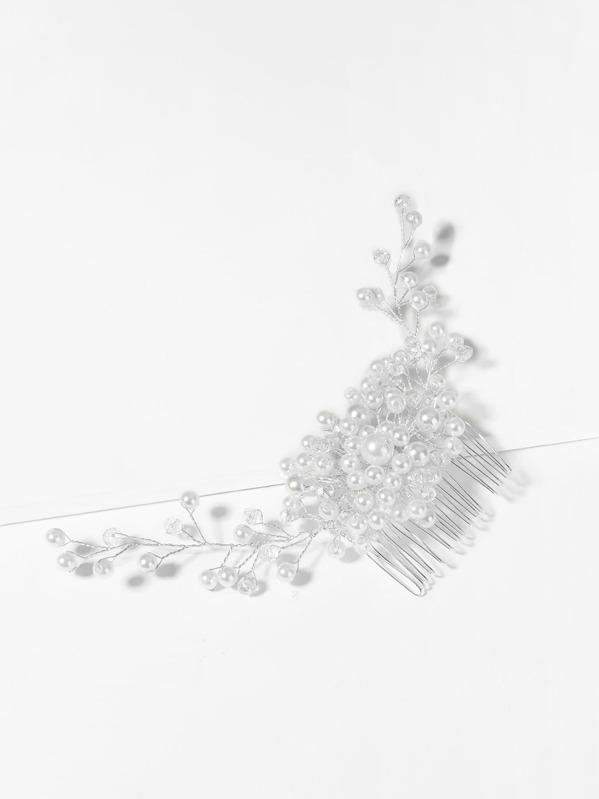 394d01282b Faux Pearl Decorated Hair Pin -SHEIN(SHEINSIDE)