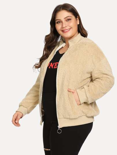 Manteaux   vestes grande taille de Femme-French SheIn(Sheinside) 1112ac1156d8