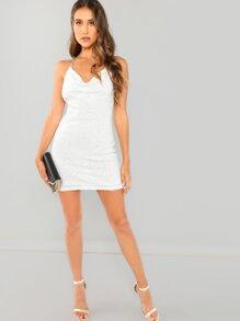 Halter Sequin Dress