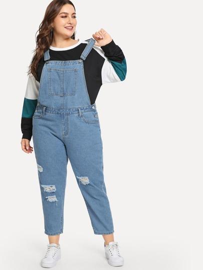 Plus Size Denim Overalls | SHEIN