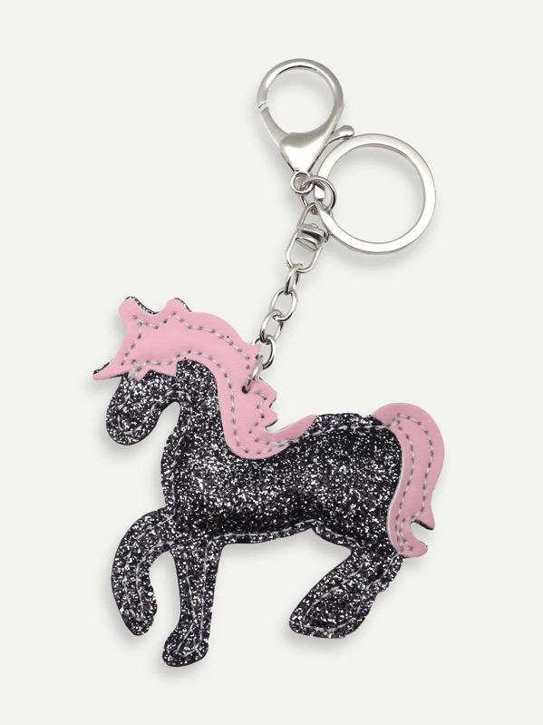 2528537ee9 Animal Shaped Glitter Key Chain -SheIn(Sheinside)