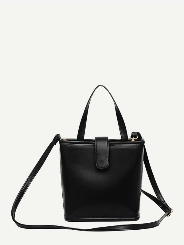 Minimalist Pu Satchel Bag by Sheinside