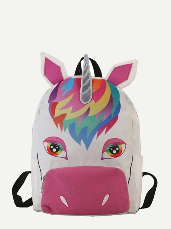 Barn Unicorn Design Ryggsäck -Svenska SHEIN(SHEINSIDE) 7568aacb8aa23