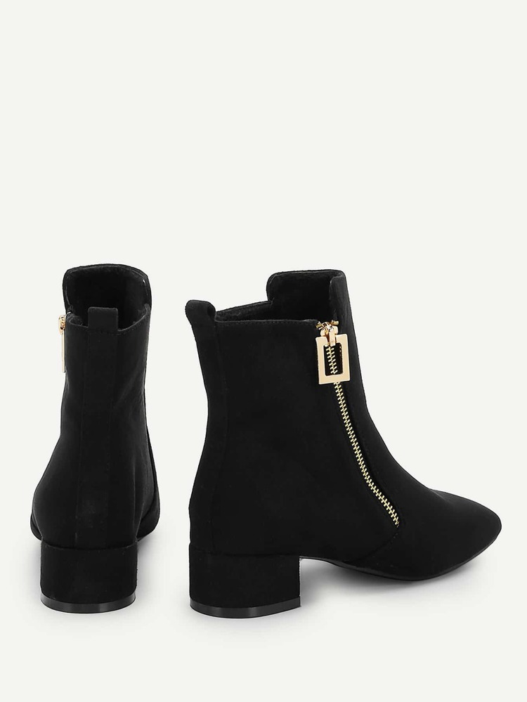 89d88381d2f Ankel boots med dragkedja på sidan | SHEIN SE