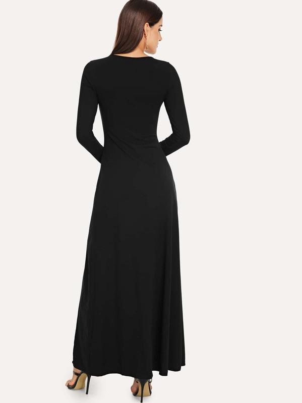 Split Solid Dress by Shein