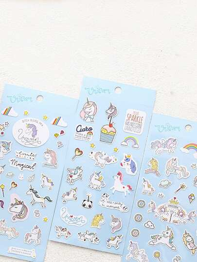 Unicorn Sticker 3sheets