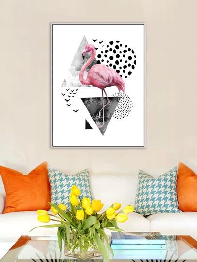 Flamingo Print Wall Art 1pc -SheIn(Sheinside)