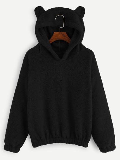 the latest ce1db 0a551 Solid Hooded Teddy Sweatshirt