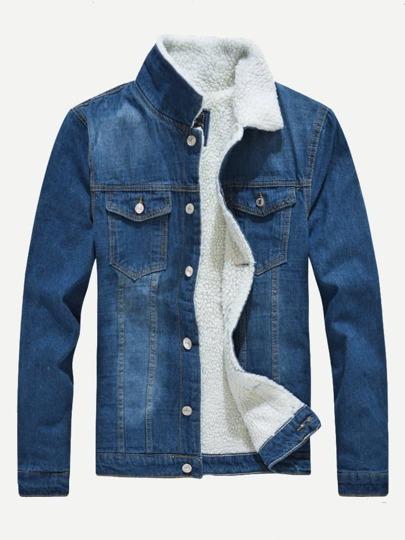 Mens Fashion Men Denim Jackets Mens Apparel Shein