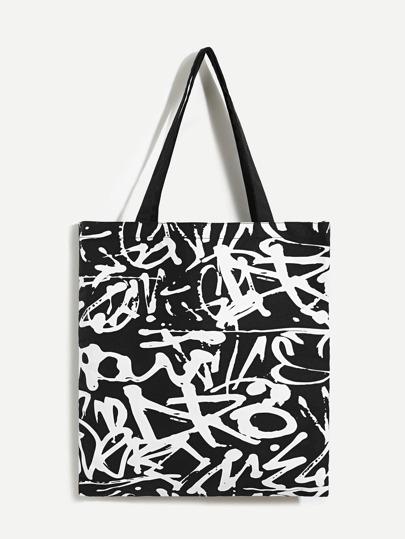 graffiti print tote bag shein sheinside Fiji Island Recipes