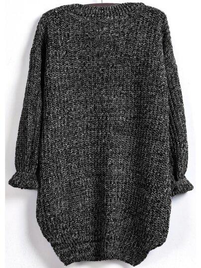 291f7f55195 Dip Hem Marled Knit Jumper