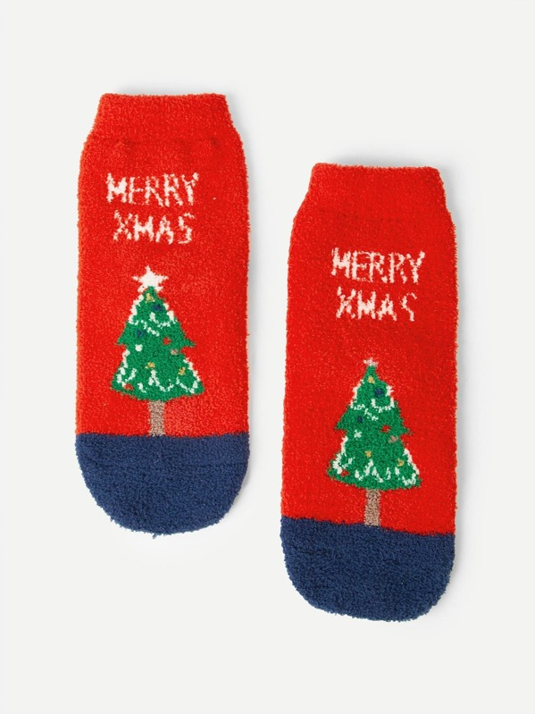 0c26667c5dc Christmas Kids Tree Pattern Socks -SheIn(Sheinside)
