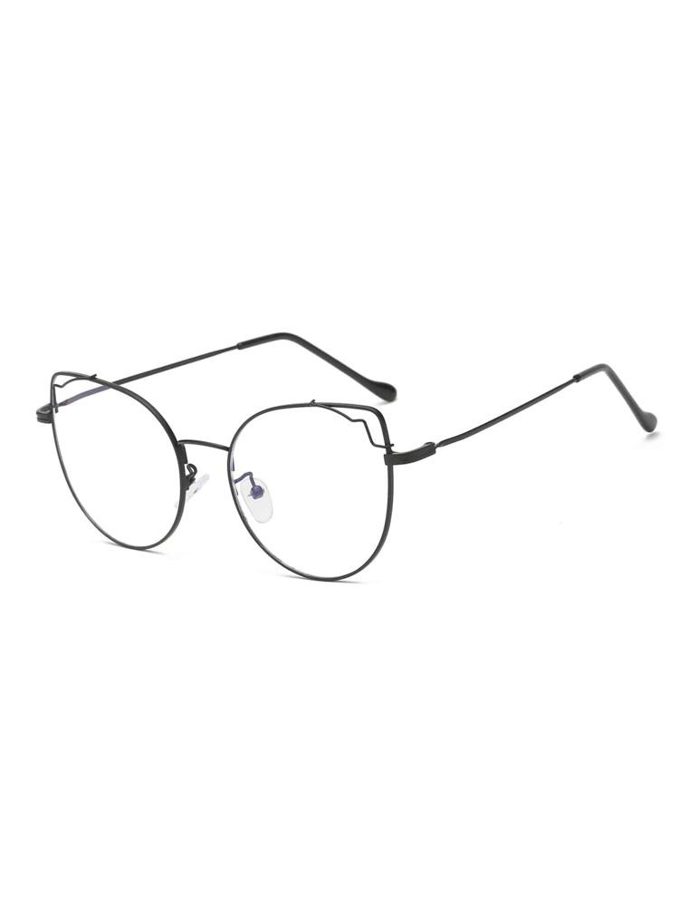 60f756585 نظارات عين القط معدنية الإطار | شي إن