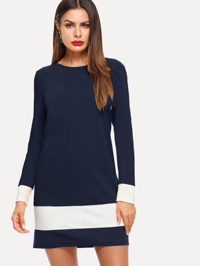 avec tunique Robe couleurs de blocs w1xxXFPq