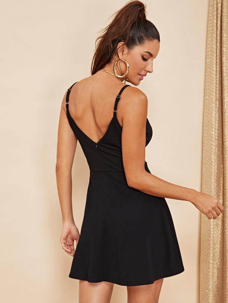 3665fefd Double V Neck Surplice Cami Dress | SHEIN