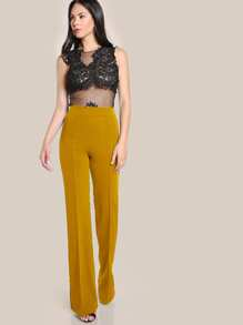 c2aa64e315 High Rise Piped Dress Pants | SHEIN IN