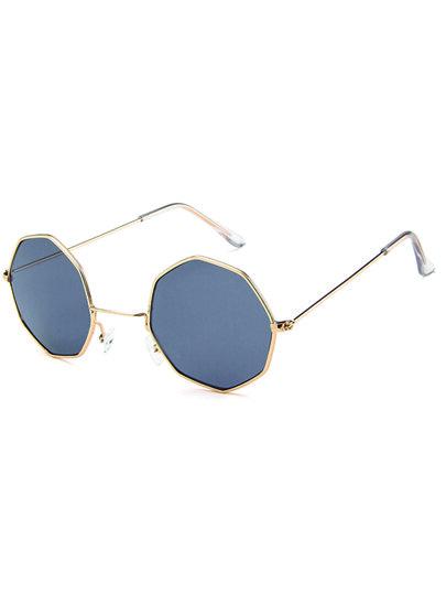 9022ef9050 Metal Frame Polygon Lens Sunglasses
