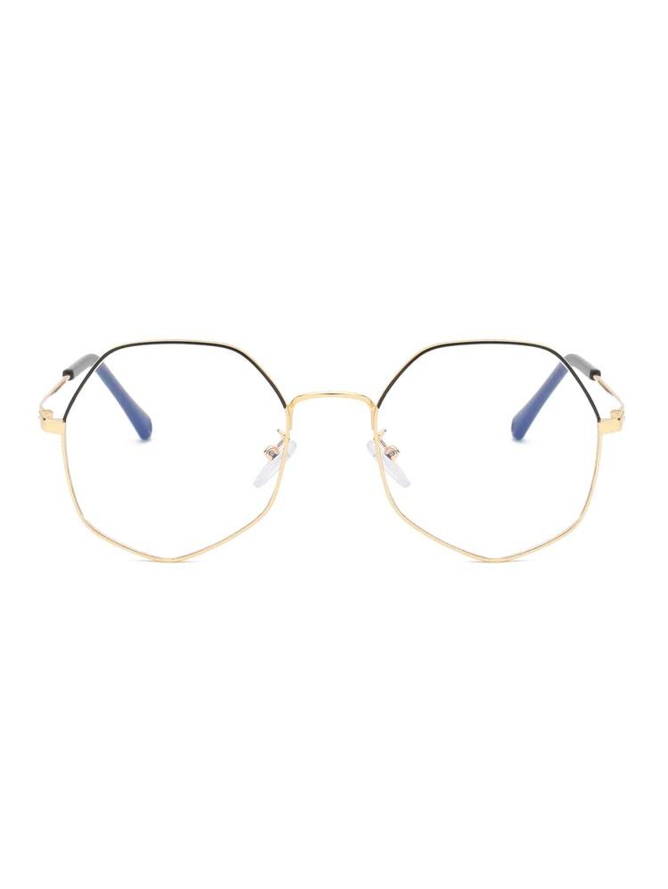 c778b7804 نظارات بإطار معدني مع عدسات متعددة الأضلاع | شي إن