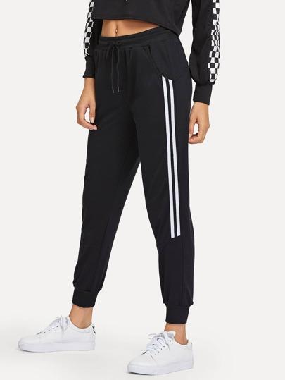 Pantalones de chándal con bandas laterales af7190aaab46