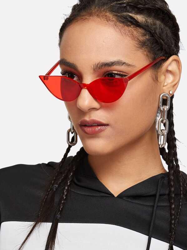70eafd14ba Rimless Tinted Lens Sunglasses -SheIn(Sheinside)