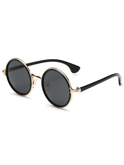a21c76cf61 Metal Frame Round Lens Sunglasses