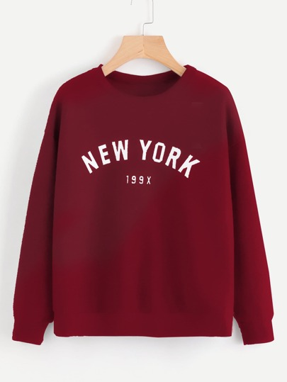 5ab57d5997198 Letter Print Drop Shoulder Sweatshirt