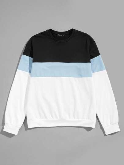Men Color-Block Pullover f43e0928a20d