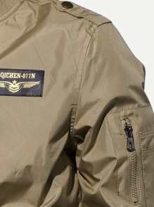 Shein Bomber Avec sheinside Patch French Homme wRvAx6Tq