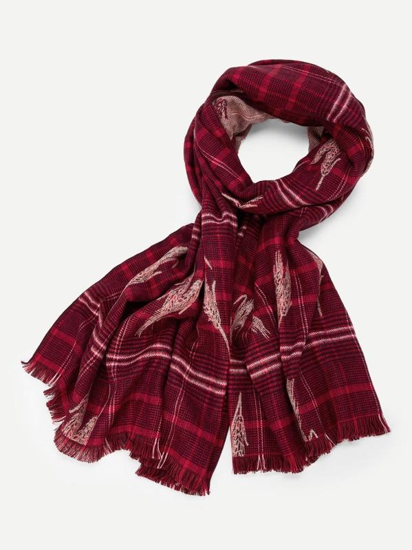 men christmas plaid scarf sheinsheinside - Christmas Plaid Scarf