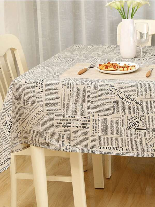 Letter Pattern Tablecloth