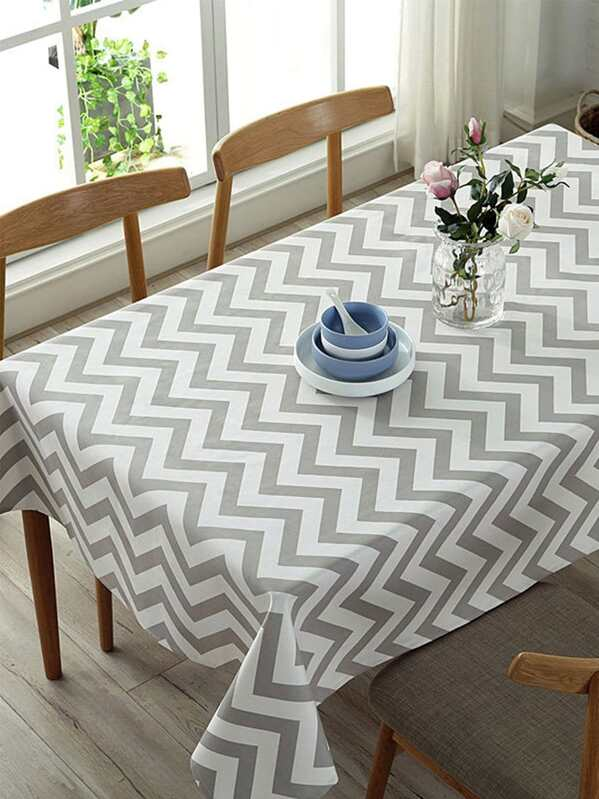 Chevron Pattern Tablecloth